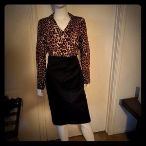 Express Tops - Express Animal/Leopard print Portofino shirt